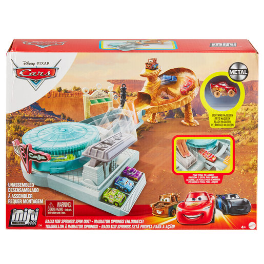 Disney Pixar Cars Mini Racers Radiator Springs Spin Out Playset