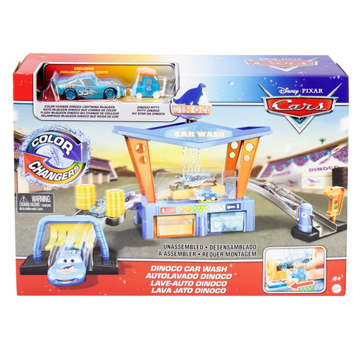 Disney Pixar Cars: Dinoco Colour Change Car Wash Playset