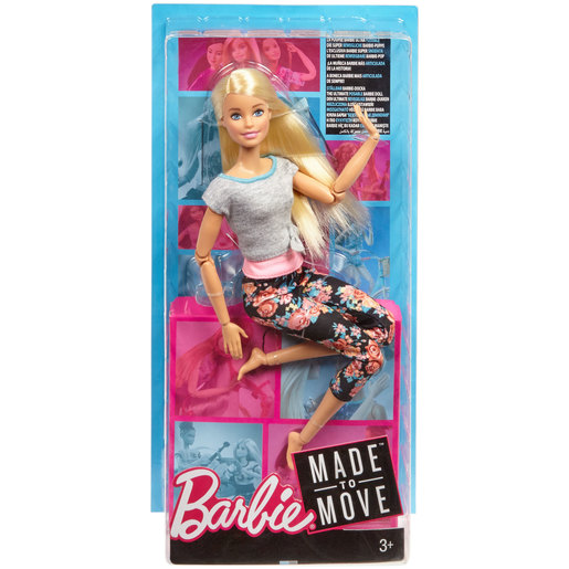 Barbie Made to Move Doll - Flower Leggings & Pink Top