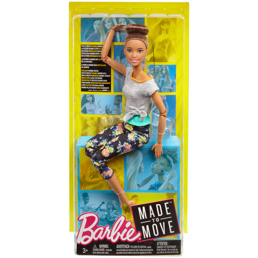 Barbie Made to Move Doll - Flower Leggings & Blue Top
