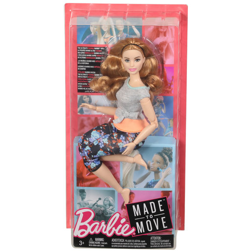 Barbie Made to Move Doll - Flower Leggings & Orange Top