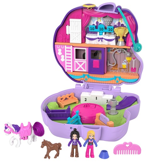 Polly Pocket Playset 'Jumpin' Style Pony' Compact