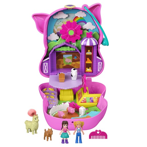 Polly Pocket Playset 'On the farm' Piggy Compact