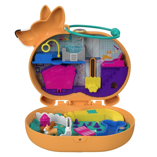 Polly Pocket Playset 'Corgi Cuddles' Compact
