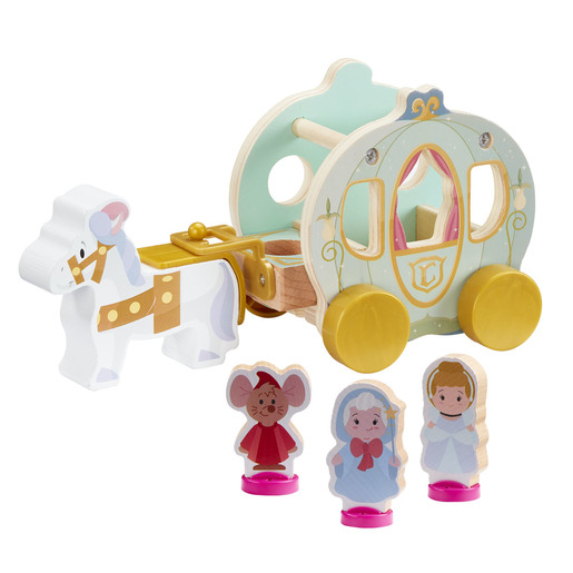 Disney Princess Cinderella's Wooden Pumpkin Carriage Set