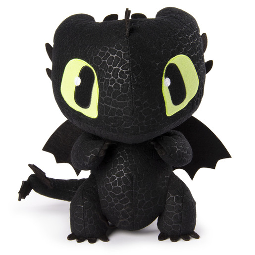DreamWorks Dragons, Squeeze & Growl 25cm Plush - Toothless