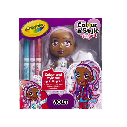 Crayola Colour n Style Friends Doll - Violet