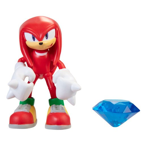 Sonic 10cm Figures -Modern Knuckles With Chaos Emerald