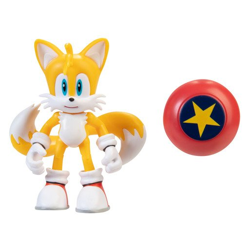 Sonic 10cm Figures -Modern Tails With Star Spring