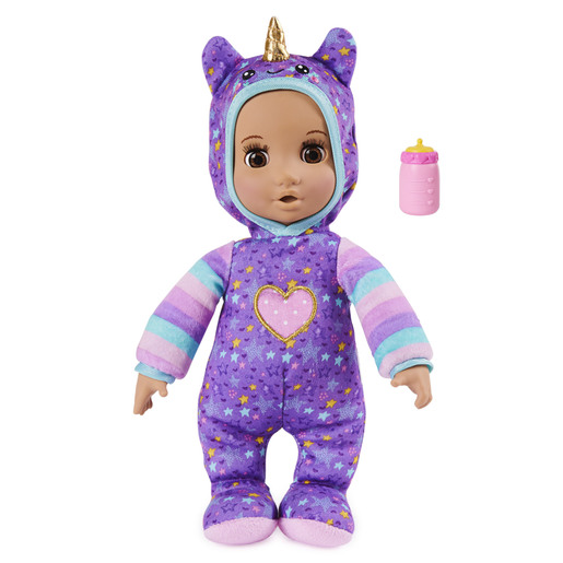 Luvzies by Luvabella - 28cm Unicorn Onesie Baby Doll