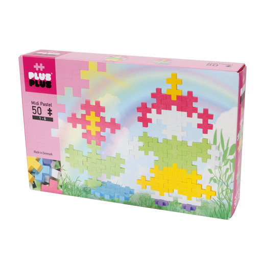 Plus-Plus Construction Set  - BIG Pastel Little Girl and Flower Kit