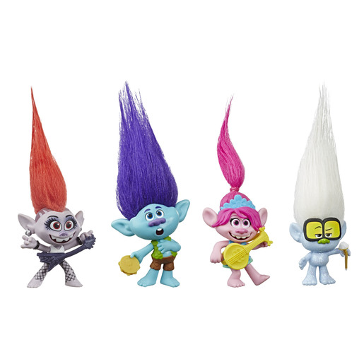 Dreamworks Trolls Work Tour - Small Doll 4 Pack