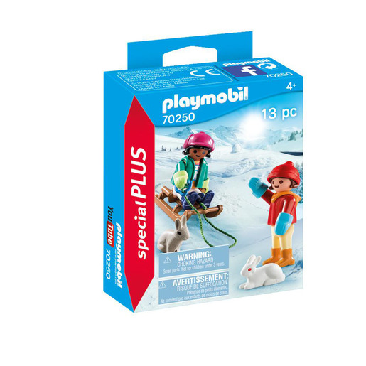 Playmobil 70250 Special Plus Children with Sleigh Figures