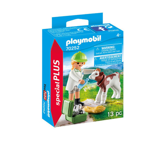 Playmobil 70252 Special Plus Vet with Calf Figures