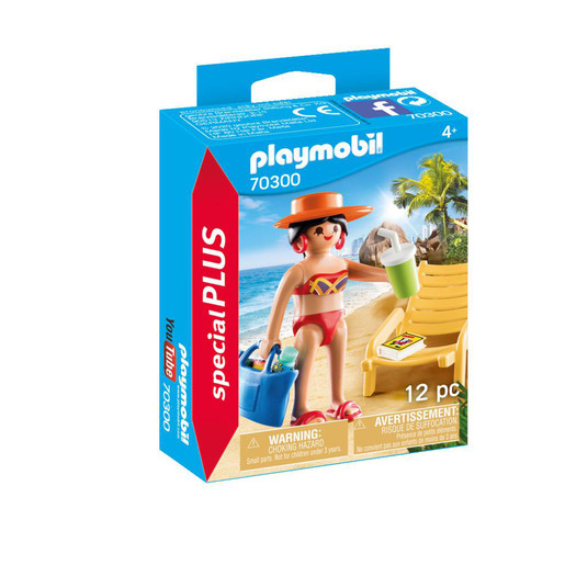 Playmobil 70300 Special Plus Sunbather With Lounge Chair Playset