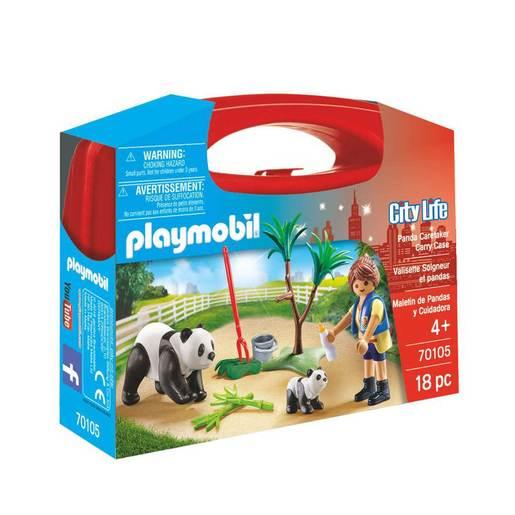 Playmobil 70105 City Life Panda Caretaker Large Carry Case Set