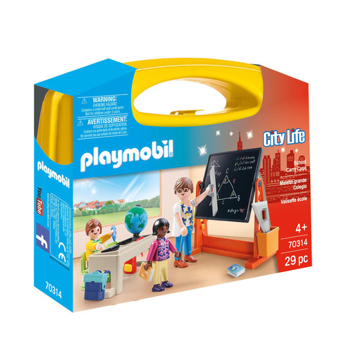 Playmobil 70314 City Life School Small Carry Case Playset