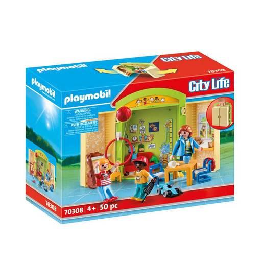 Image of Playmobil 70308 City Life Pre-school Play Box