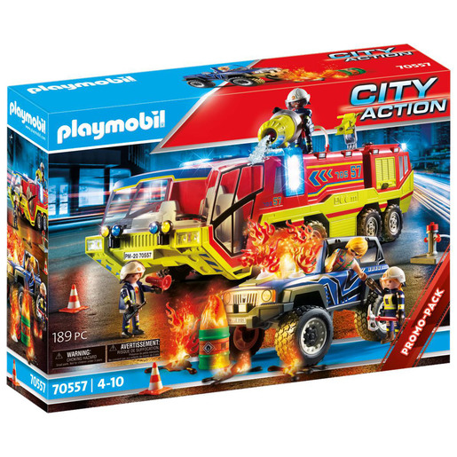 Playmobil 70557 City Action Fire Engine with Truck