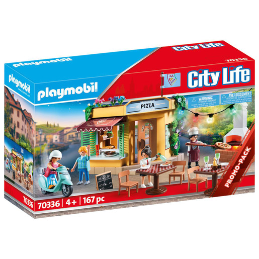 Playmobil 70336 City Life Pizzeria Pack Playset