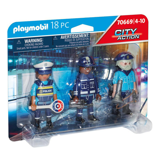 Playmobil 70669 City Action Police 3 Figure Set