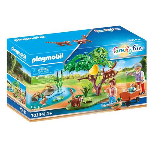 Playmobil 70344 Family Fun Red Panda Habitat