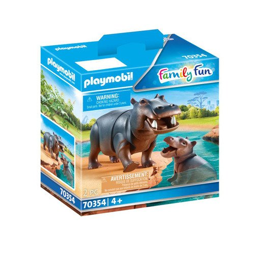 Playmobil 70354 Family Fun Hippo with Calf Figures