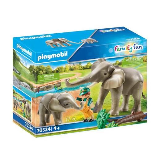 Playmobil 70324 Family Fun Elephant Habitat