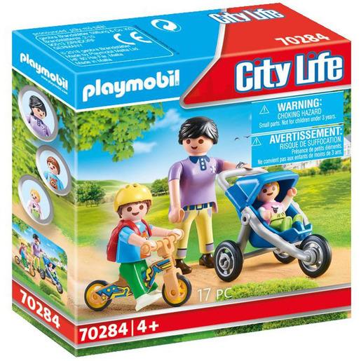 Playmobil 70284 City Life Pre School Mother With Children Figure Set