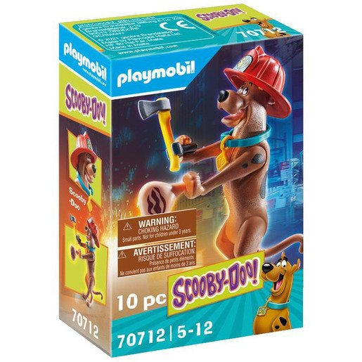 Playmobil 70712 Scooby Doo! Collectible Firefighter Figure Playset