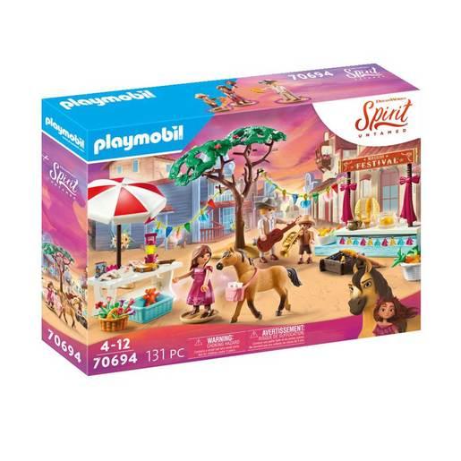 Playmobil 70694 Dreamworks Spirit Untamed Miradero Festival Playset