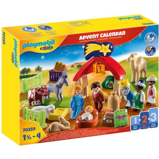 Playmobil 70269 1.2.3 Advent Christmas Manger Playset