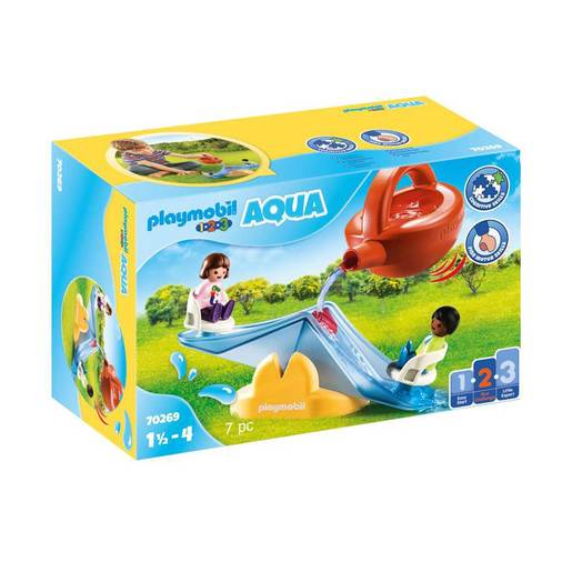 Playmobil 70269 1.2.3 Aqua Water Seesaw with Watering Can Playset