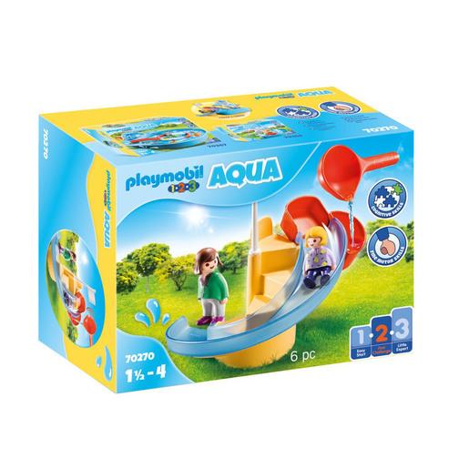 Playmobil 70270 1.2.3 Aqua Water Slide Playset