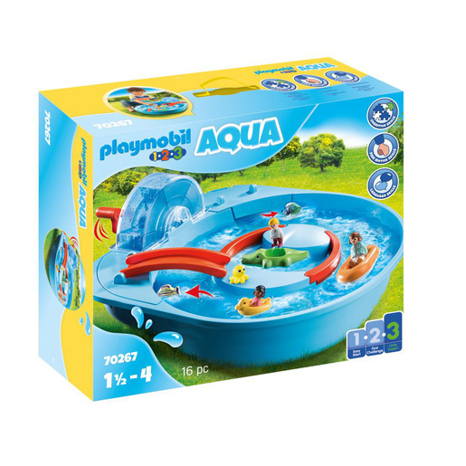 Playmobil 70267 1.2.3 Aqua Splish Splash Water Park Playset