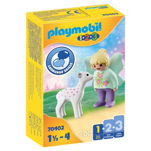 Playmobil 70402 1.2.3 Fairy Friend with Fawn Figures