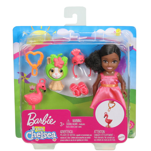 Barbie Club Chelsea Dress-Up Doll with Pet and Accessories - Flamingo Dress