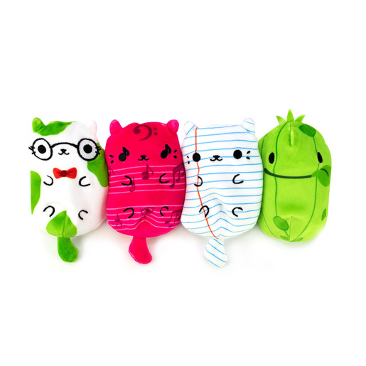 Cats vs Pickles Plush Collectable 4 Pack - Blank