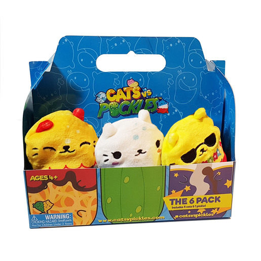Cats vs Pickles Plush Collectable 6 Pack - Aloha