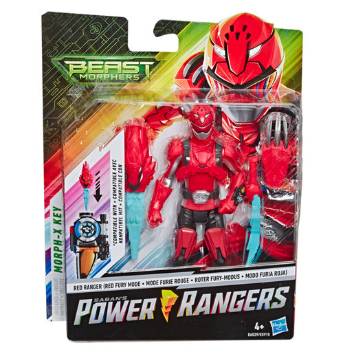 Power Rangers Beast Morphers: Red Ranger Action Figure  (6inches)