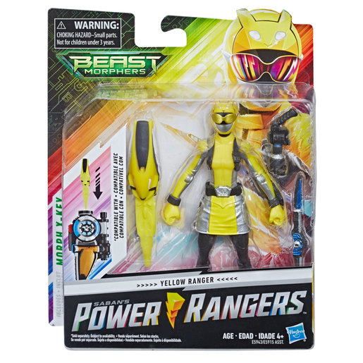 Power Rangers Beast Morphers: Yellow Ranger Action Figure (6inches)