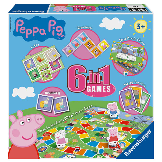 Ravensburger 6 in 1 Peppa Pig Jigsaw Puzzel