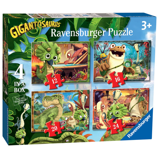 Ravensburger Gigantosaurus 4 in Box (12, 16, 20, 24pc) Jigsaw Puzzles