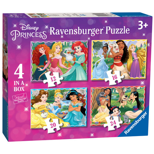 Ravensburger - 4 in a Box Disney Princess Jigsaw Puzzle