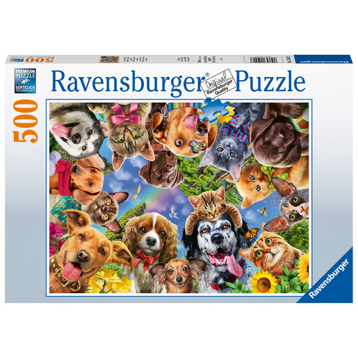 Ravensburger Animal Selfies 500pc Jigsaw Puzzle