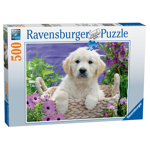 Ravensburger Cute Golden Retriever 500pc Jigsaw Puzzle