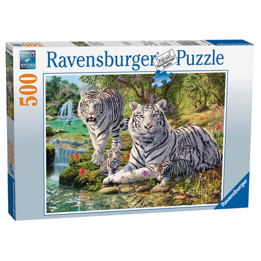 Ravensburger White Tigers 500pc Jigsaw Puzzle