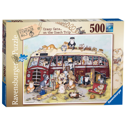 Ravensburger Crazy Cats No.3 -  Vintage Bus 500pc Jigsaw Puzzle