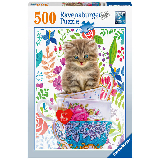 Ravensburger Teacup Kitty 500pc Jigsaw Puzzle
