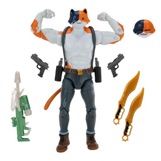 "Fortnite 7"" Legendary Series Brawlers Figure Pack - Meowscles"